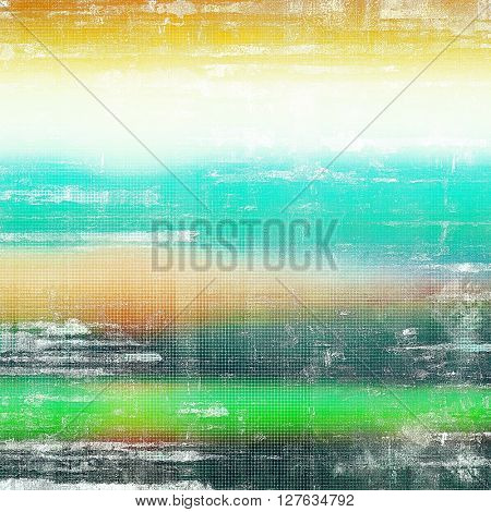Retro background with vintage style design elements, scratched grunge texture, and different color patterns: yellow (beige); brown; gray; green; blue; white