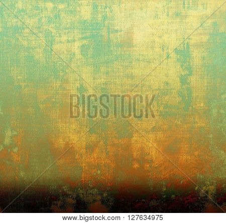 Vintage decorative background, antique grunge texture with different color patterns: yellow (beige); brown; green; blue; red (orange); cyan