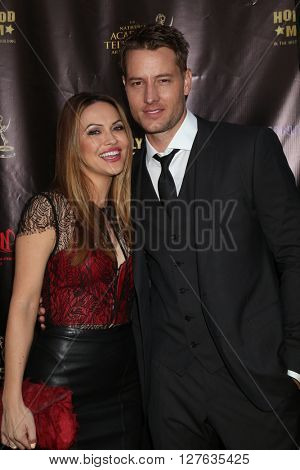 LOS ANGELES - APR 27:  Chrishell Stause, Justin Hartley at the 2016 Daytime EMMY Awards Nominees Reception at the Hollywood Museum on April 27, 2016 in Los Angeles, CA