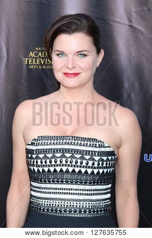 LOS ANGELES - APR 27:  Heather Tom at the 2016 Daytime EMMY Awards Nominees Reception at the Hollywood Museum on April 27, 2016 in Los Angeles, CA