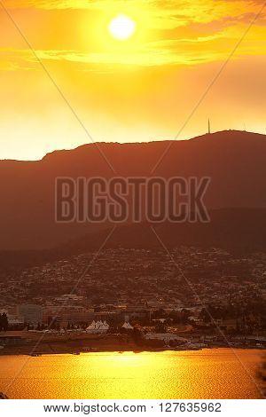 Sunset Over Mount Wellington