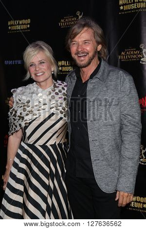 LOS ANGELES - APR 27:  Mary Beth Evans, Stephen Nichols at the 2016 Daytime EMMY Awards Nominees Reception at the Hollywood Museum on April 27, 2016 in Los Angeles, CA