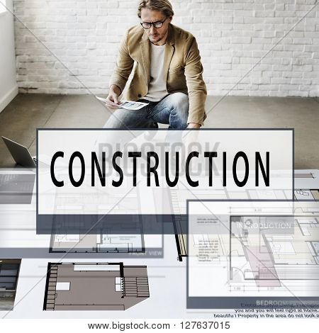 Construction Build Layout Blueprint Creativity Concept
