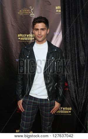 LOS ANGELES - APR 27:  Max Ehrich at the 2016 Daytime EMMY Awards Nominees Reception at the Hollywood Museum on April 27, 2016 in Los Angeles, CA