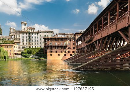 The Old Bridge also called the Bassano Bridge or Bridge of the Alpini located in the city of Bassano del Grappa in the Province of Vicenza is considered one of the most picturesque bridges in Italy.