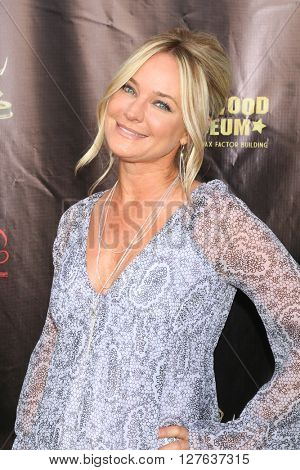 LOS ANGELES - APR 27:  Sharon Case at the 2016 Daytime EMMY Awards Nominees Reception at the Hollywood Museum on April 27, 2016 in Los Angeles, CA