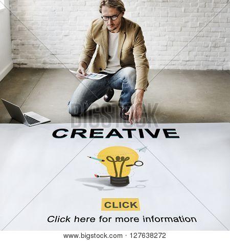 Creative Bulb Ideas Development Thinking Concept