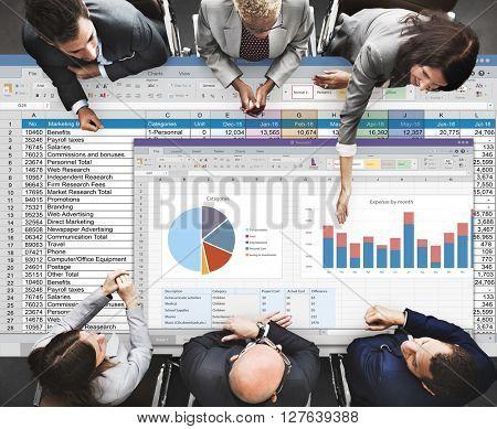 Analytics Brainstorming Chart Diagram Report Concept
