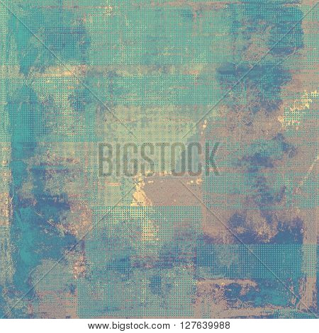 Vintage texture or antique background with grunge decorative elements and different color patterns: brown; gray; blue; cyan