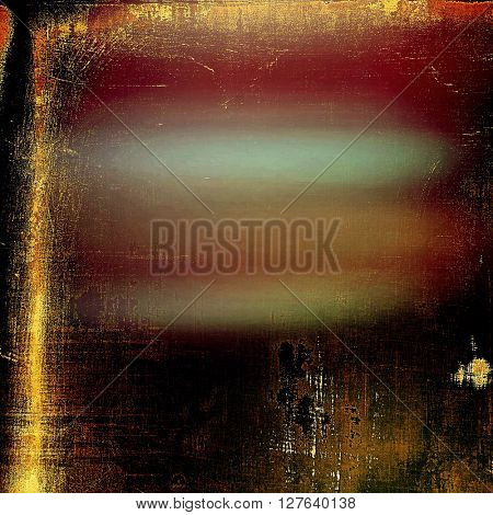 Creative elegant design used as retro background for your art project. With grunge texture and different color patterns: yellow (beige); brown; red (orange); pink; black; cyan