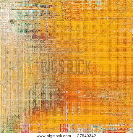 Vintage texture or antique background with grunge decorative elements and different color patterns: yellow (beige); brown; gray; green; red (orange); white