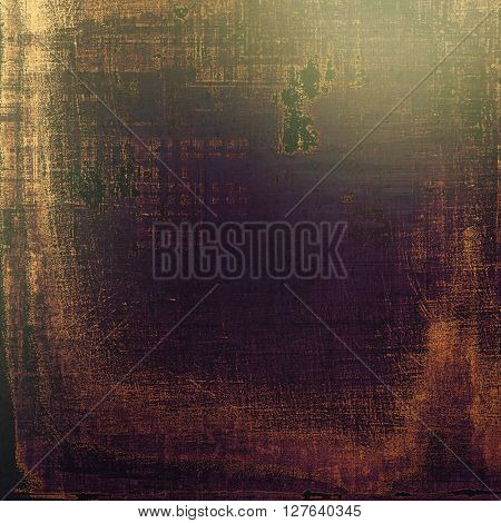 Oldest vintage background in grunge style. Ancient texture with different color patterns: yellow (beige); brown; gray; green; purple (violet); black