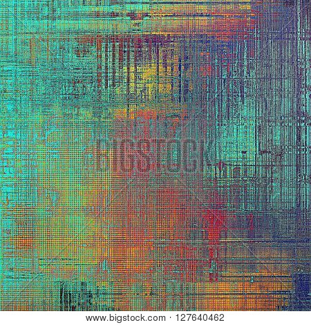 Abstract vintage colored background. With different color patterns: yellow (beige); blue; red (orange); pink; cyan