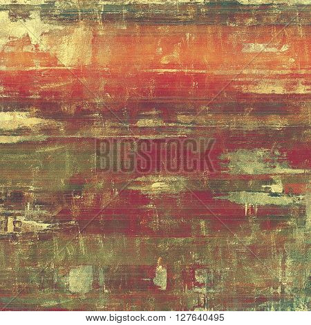 Vintage decorative background, antique grunge texture with different color patterns: yellow (beige); brown; gray; green; red (orange); purple (violet)