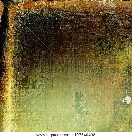 Art graphic texture for grunge abstract background. Aged colorful backdrop with different color patterns: yellow (beige); brown; gray; green; black
