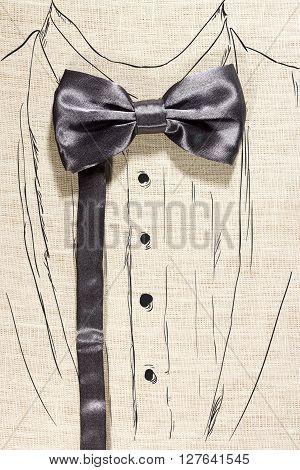 Elegant concept using bowtie and paint suit