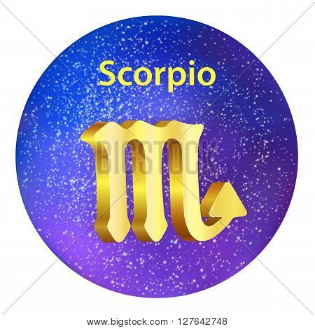 Sign Of The Zodiac Scorpio On The Sky.