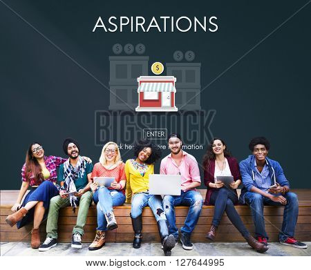 Aspirations Launch Startup New Business Concept