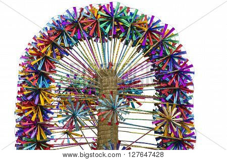 Many multicolored toy windmills on sale in market India