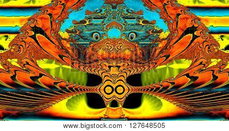 fractal illustration of a dragon. Colorful Fractal Background. A fractal is a natural phenomenon or a mathematical set that exhibits a repeating pattern that displays at every scale.