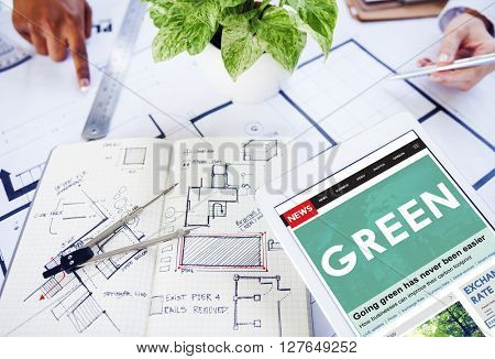 Green Ecology Environmental Eco Earth Concept