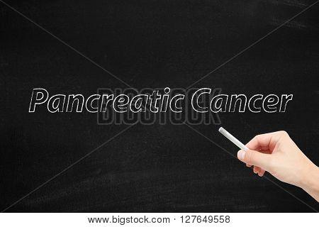 Pencreatic Cancer written on a blackboard