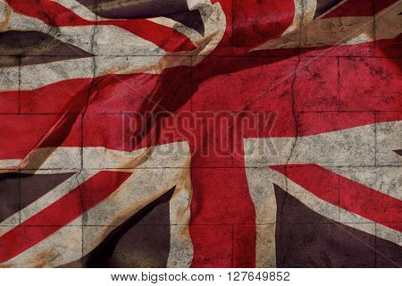 UK Background with weathered flag