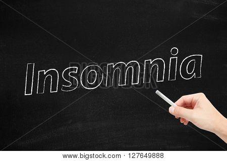 Insomniawritten on a blackboard