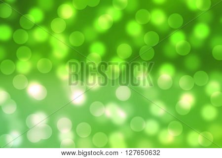 Abstract colorful green Bokeh defocus blur background