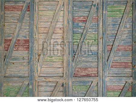 High resolution image of old blue wooden background