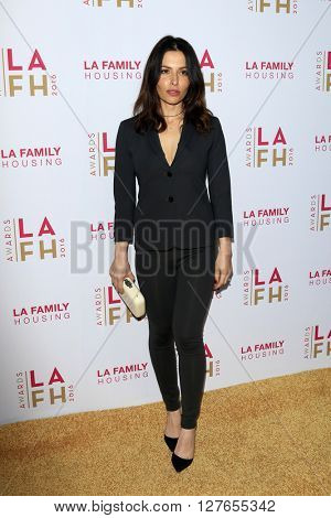 LOS ANGELES - APR 21:  Sarah Shahi at the LA Family Housing Awards at the The Lot on April 21, 2016 in Los Angeles, CA