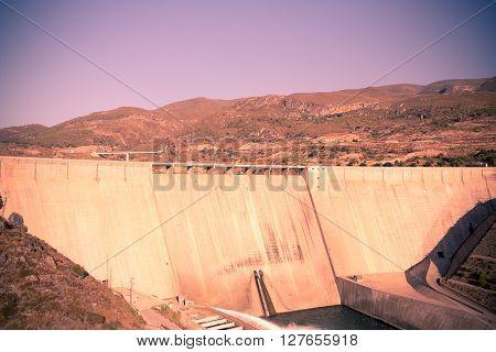 Big Dam on Guadalfeo River in Spain