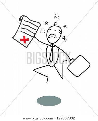 Businessman Rejected .eps10 editable vector illustration design