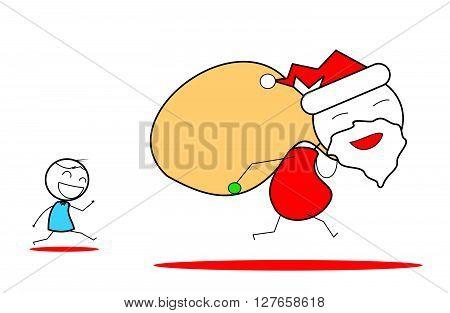 Xmas Santa .eps10 editable vector illustration design