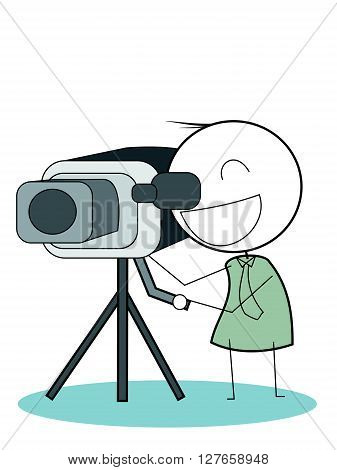 Cameraman vector .eps10 editable vector illustration design