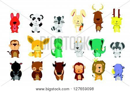 Animal Bigset .eps10 editable vector illustration design
