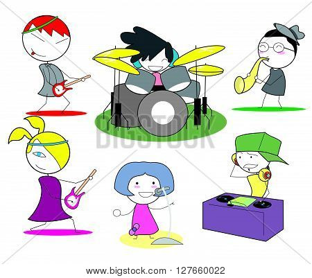 Music band .eps10 editable vector illustration design