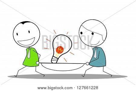 Idea businessman teamwork .eps10 editable vector illustration design