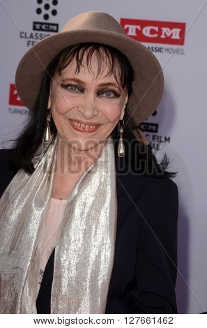 LOS ANGELES - APR 28:  Anna Karina at the TCM Classic Film Festival Opening Night Red Carpet at the TCL Chinese Theater IMAX on April 28, 2016 in Los Angeles, CA