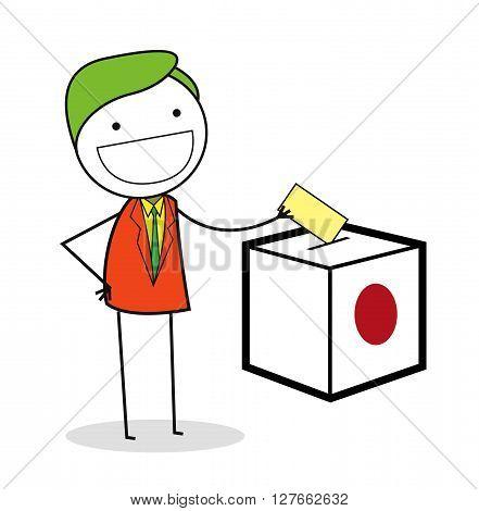Businessman vote .eps10 editable vector illustration design