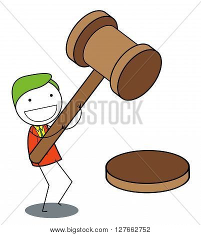 Man justice .eps10 editable vector illustration design