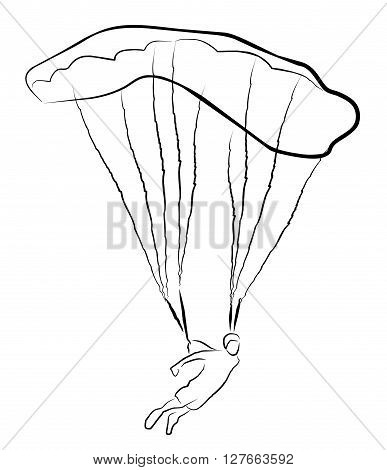 Skydiving  vector illustration .eps10 editable vector illustration design