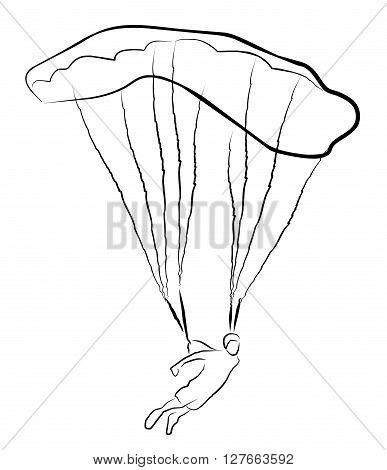 Skydiving  vector illustration .eps10 editable vector illustration design