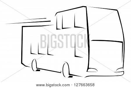 Bus Symbol Vector Illustration .eps10 editable vector illustration design