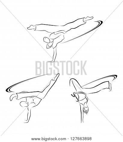 Capoeira symbol .eps10 editable vector illustration design