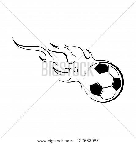 Foot Ball Fire .eps10 editable vector illustration design