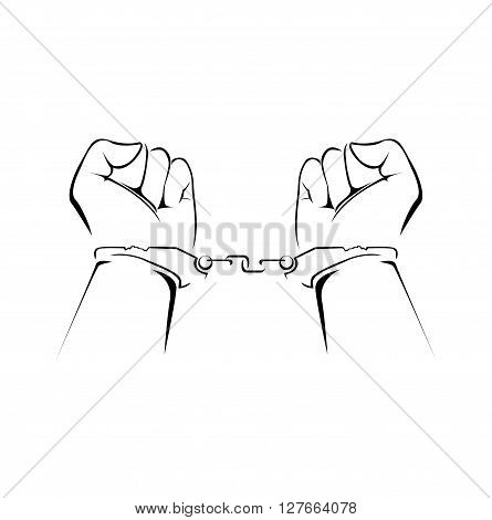 Criminal Hand .eps10 editable vector illustration design