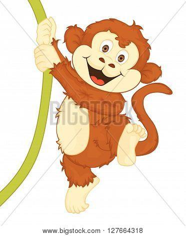 Monkey Vector Cartoon Illustration.eps10 editable vector illustration design