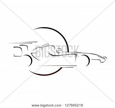 Formula Car Symbol.eps10 editable vector illustration design