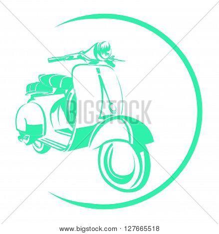 Scooter Symbol .eps10 editable vector illustration design